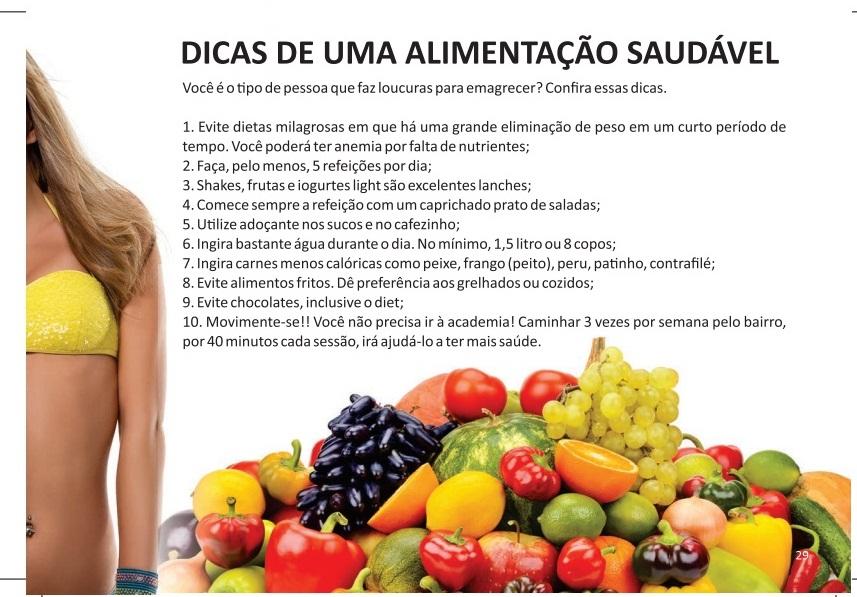 DICAS DE ALIMENTAÇÃO SAUDÁVEL